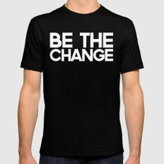 Be the Change MEDIUM Mens Fitted Tee Black