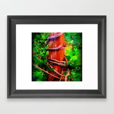 Post & Vines Framed Art Print