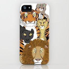 Surprised Big Cats iPhone Case