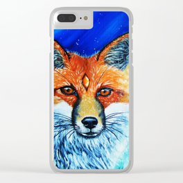 Red Fox Spirit Clear iPhone Case