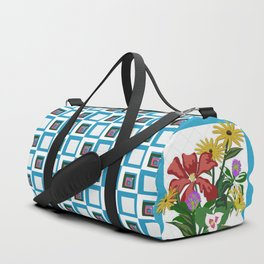 Wildflower Bouquet Quilt Duffle Bag