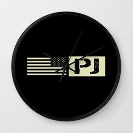 Pararescue (PJ) Black Flag Wall Clock