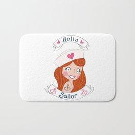 Hello Sailor! Bath Mat
