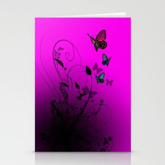 Summer Butterflies Stationery Cards