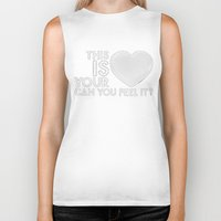 laura palmer Biker Tanks featuring Bastille - Laura Palmer #4 (This Is Your Heart, Can You Feel It?) by Thafrayer