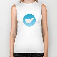 planes Biker Tanks featuring Paper Planes by Elle Moz