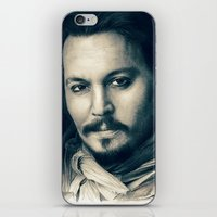 johnny depp iPhone & iPod Skins featuring Johnny Depp II. by Thubakabra