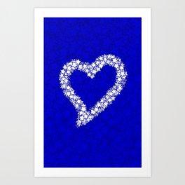 HEART GALAXY BLUE Art Print