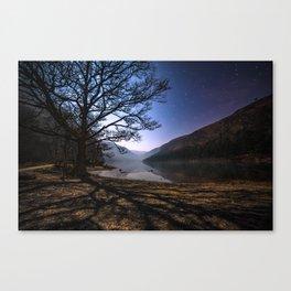 Night sky in Glendalough, Wicklow Mountains - Ireland Print (RR 266) Canvas Print