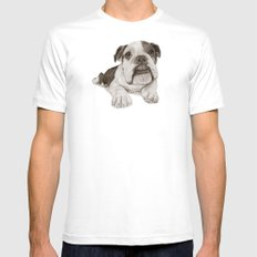 A Bulldog Puppy :: Brindle  Mens Fitted Tee MEDIUM White
