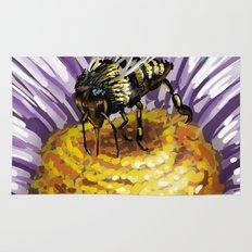 Wasp on flower 3 Rug