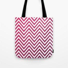 Geometric Lines Pattern Magenda Tote Bag