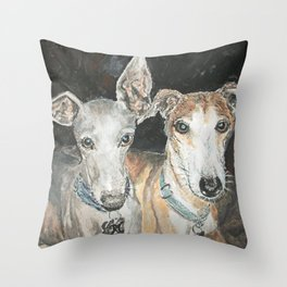 Cuddly Canines Throw Pillow