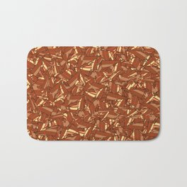 Chocolate Brown Abstract Bath Mat