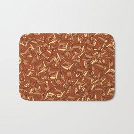 Chocolate Brown Abstract Bath Mat