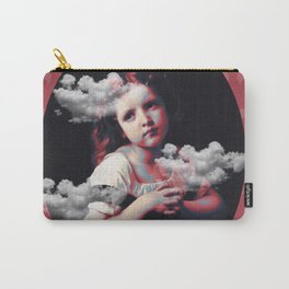 Lovely girl and clouds Carry-All Pouch
