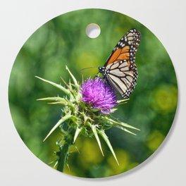 monarch with mustard Cutting Board