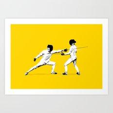 The Duel Art Print