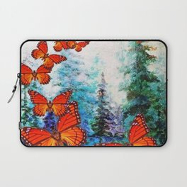 ORANGE MONARCH BUTTERFLIES FOREST MIGRATION Laptop Sleeve