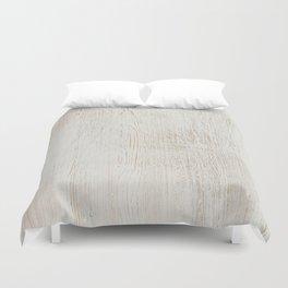 White vintage wood Duvet Cover