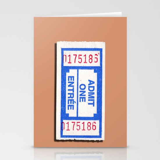 Admit 2 please Stationery Cards