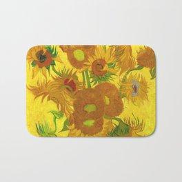 Vincent Van Gogh Fifteen Sunflowers In A Vase Bath Mat
