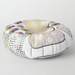 Watercolor Texture Acrylic Swish Pattern Floor Pillow