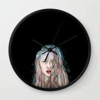 goddess Wall Clocks featuring Goddess  by Jenn