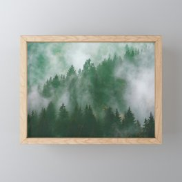Clear life's mist to see beauty. Green Framed Mini Art Print