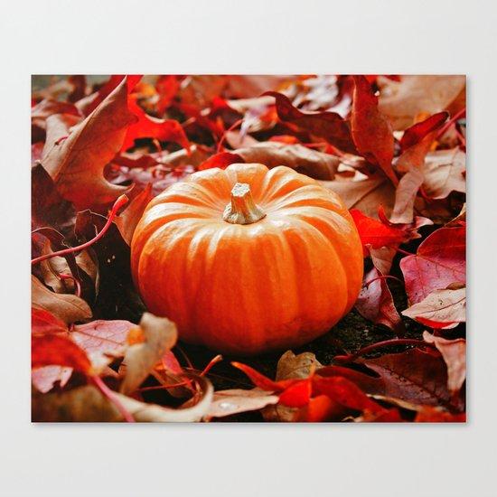 Samhain pumpkin Canvas Print