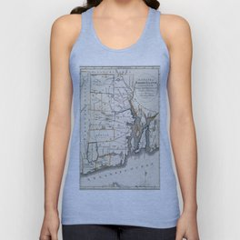 Map of Rhode Island 1818 Unisex Tank Top