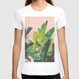 Palm Tree Leaves III (Pink) T-shirt