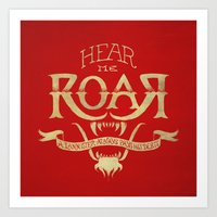 lannister Art Prints featuring Game of Type by Jango Snow