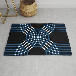Interwoven - blue Rug