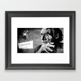 Charles Bukowski - love version - black Framed Art Print