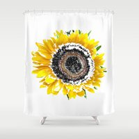sunflower Shower Curtains featuring Sunflower by Regan's World