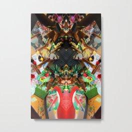 toy shop dark Rorschach symmetry caleidoscope Metal Print