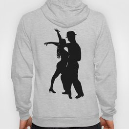 Dance with me - Ink Painting Wall Art Home Decor Black and White Music Illustration Dance Salsa Hoody