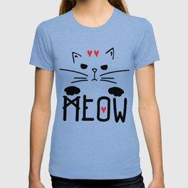 MEOW MEOW MEOW ON T-shirt