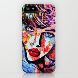 Touch of color iPhone Case