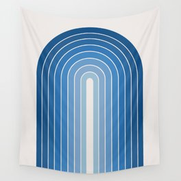 Gradient Arch - Classic Blue Tones Wall Tapestry