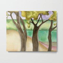 Three Oak Trees Metal Print