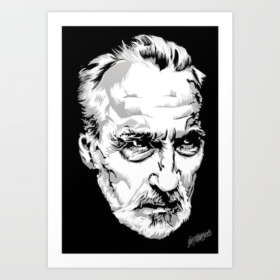Sir Christopher Lee Art Print