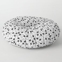 White Medication Pattern - Nurse, Doctor, Pharmacist Floor Pillow
