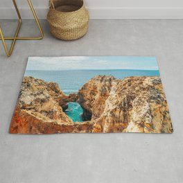 Ocean Landscape, Rocks And Cliffs, Lagos Bay Coast, Algarve Portugal,Wall Art, Poster Decor Rug