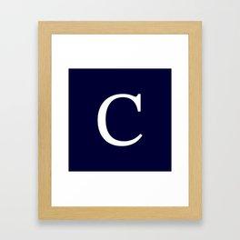 Navy Blue Basic Monogram C Framed Art Print