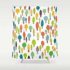 Wood U Colorful Shower Curtain