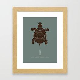 Lo Shu Turtle Framed Art Print