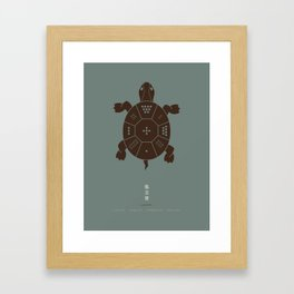 Lo Shu Turtle Framed Art Print