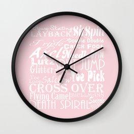 Figure Skating Subway Graphic Design Wall Clock